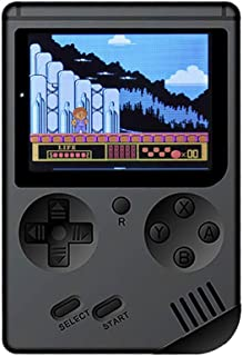 Aritone Handheld Game Console, Retro Mini Game Console, Entertainment System Video Game Console with 3'' HD Screen 500 Classic Games, Birthday Party Gifts for Children Kids Toy (Black)