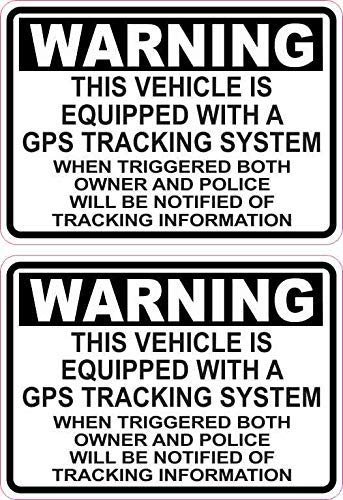 Tamengi 3.5 x 2.5 Inch Voertuig uitgerust met GPS Trackg Stickers voor Art Decorative