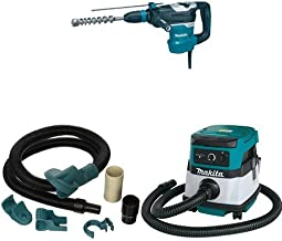 Makita HR4013C 1-9/16-Inch Advanced AVT Rotary Hammer, 196571-4 Dust Extraction Attachment, XCV04Z 18V X2 LXT (36V) 2.1 Gallon HEPA Filter Dry Dust Extractor/Vacuum