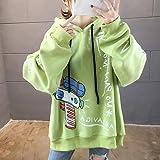 Jersey Suéter Sweater Sudaderas con Capucha Impresión Casual Sudaderas con Capucha De Longitud Media Sudadera Holgada De Gran Tamaño M 02