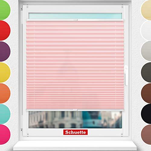 Schuette® Estor plisado sin agujeros ● Colección Premium: rosa polvo (rosa) ●...