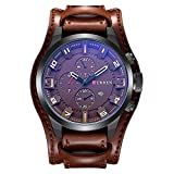 CURREN Analogue Men's Watch (Brown Colored Strap)