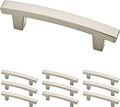 Franklin Brass P29519K-SN-B Pierce Kitchen or Furniture Cabinet Hardware Drawer Handle Pull, 3 inch, Satin Nickel, 10 Pack