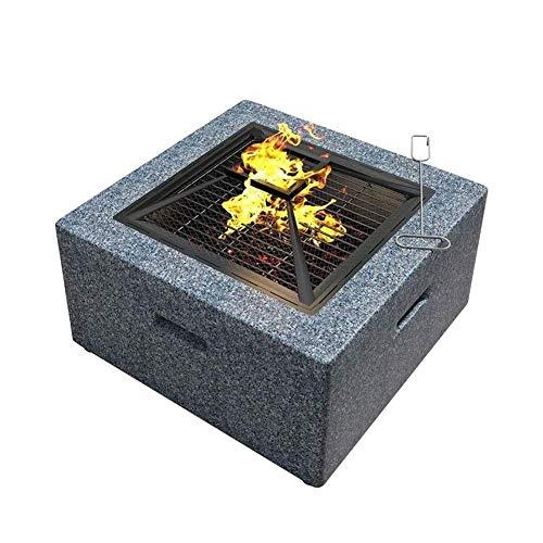Fantastic Prices! QPLKKMOI Home Fire Pit Table Outdoor, Backyard Patio Garden Beaches Camping Picnic...