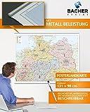 BACHER Postleitzahlenkarte Norddeutschland, Maßstab 1:500 000, Papierkarte gerollt, folienbeschichtet und beleistet: Die Postleitzahlenkarte ... auf der Linie Aachen - Marburg - Zwickau.