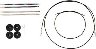Knit Picks Try IT Square Wood and Metal Interchangeable Knitting Needle Set - US 6 and 7 (Foursquare)