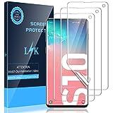 LK [3 Stück Schutzfolie für Samsung Galaxy S10, Samsung Galaxy S10 Folie, [Fingerabdruck-ID unterstützen][Blasenfreie] Klar HD Weich TPU Bildschirmschutzfolie