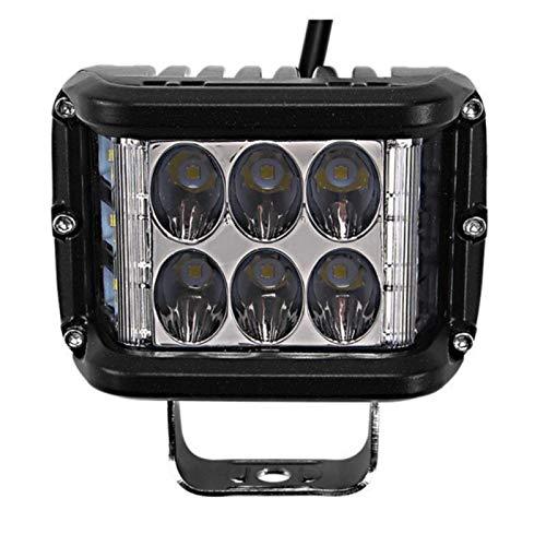 Linterna 4inch Light Bar Work Light Side Shooter LED Vainas LED PODERS TRABAJO LIGHT BAR BARRA BLANCO Y AMBER Strobe Lámpara Combo para ATV SUV Camión (Color : White White)
