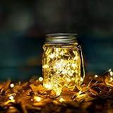 Wasserdicht Solarlicht Glas Rostfreier Stahl Mason Jar Solarlampen Draußen Gartendekoration Party Veranstaltungen Hochzeit Urlaub (Warmweiß)