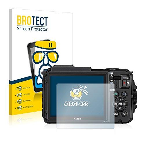 brotect Pellicola Protettiva Vetro Compatibile con Nikon Coolpix AW130 Schermo Protezione, Estrema Durezza 9H, Anti-Impronte, AirGlass