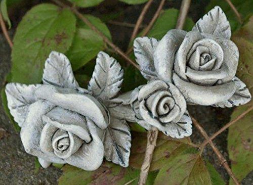 Trauer-Shop Rosenranken bestehend aus 2 Blüten eine Knospe im 2er Set. Länge je 8cm