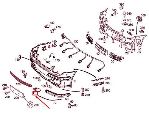 Rejilla izquierda del parachoques delantero A2038850553