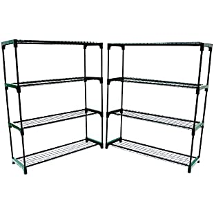 Oypla Flower Staging Display Greenhouse Racking Shelving Double Pack:Enlaweb
