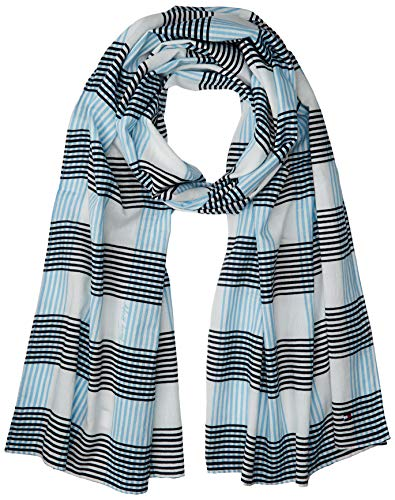 Tommy Hilfiger heren CHECK PRINT SCARF sjaal, wit (Bright White 104), One Size (Manufacturer Maat: OS)