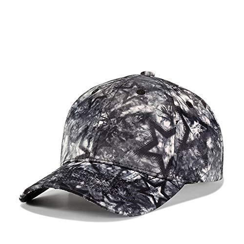 Yidajiu Cappello da Sole Cappellino da baseball stampato Uomo Donna Cappelli hip-hop Cappello da baseball alla moda Cappellino sportivo unisex nero