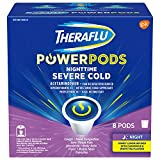 Theraflu Severe Nighttime Cold and Flu Medicine for Adults and Children 12+, Multisymptom Cold and Flu Relief PowerPods, Honey Lemon Infused with Chamomile and White Tea Flavors - 8 Pods