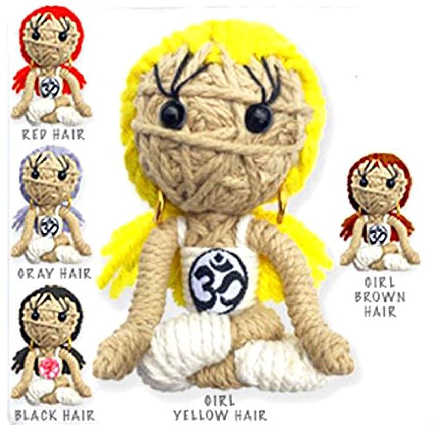 Kamibashi Dharma Meditation Girl The Original String Doll Gang Keychain Clip