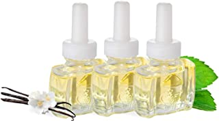 (3 Pack) Scent Fill 100% Natural Vanilla Peppermint Plug in Refills Fits Air Wick Scented Oil Warmers