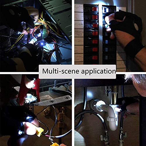 Product Image 3: LED Flashlight Glove Outdoor Fishing Gloves With Stretchy Strap Screwdriver for Repairing Cars Night Running Fishing Camping Hiking in Dark Place (1 Pair)
