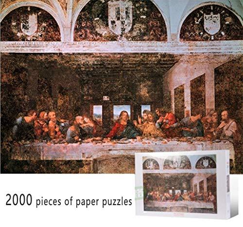 JXXU L'Ultima Cena di Leonardo da Vinci Puzzle (2000 Pezzi) Carta for Adulti Bambini Giochi Puzzle colorato Giocattoli educativi Art Home Decor