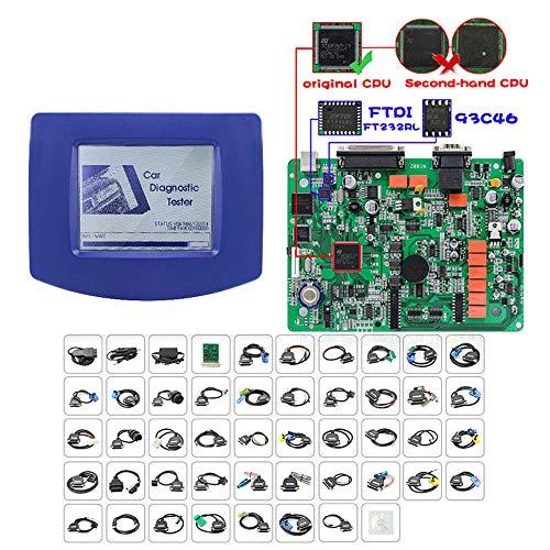 BDSEALY Kfz-Diagnosewerkzeug Kilometerzähler-Kalibrierungswerkzeug, FÜR Digi Prog III DigiProg 3 Vollständig konfigurierter Kilometerzähler/OBD-Konfiguration v4.9,Hohe Bekanntheit,A