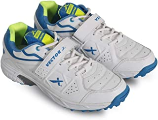 Vector X CKT-200 Cricket Shoes for Men's (White-Blue-Green)