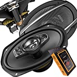 Pioneer 6 Inch X 9 Inch 6x9 700W 5-Way A-Series Coaxial Car Speakers System with Gravity Mobile Bracket Holder