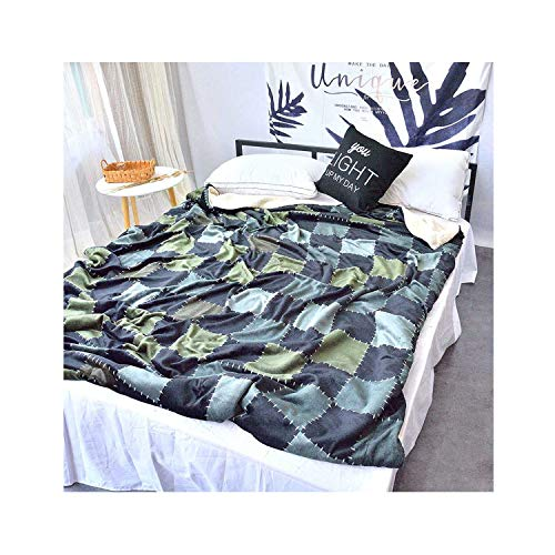 Double Layer Soft Baby Thick Winter Warm Fleece Blanket Sofa Home Plaid Baby Bedding Comforter Kids Swaddle Bathing Wraps,H,200X230CM-I-90X130CM