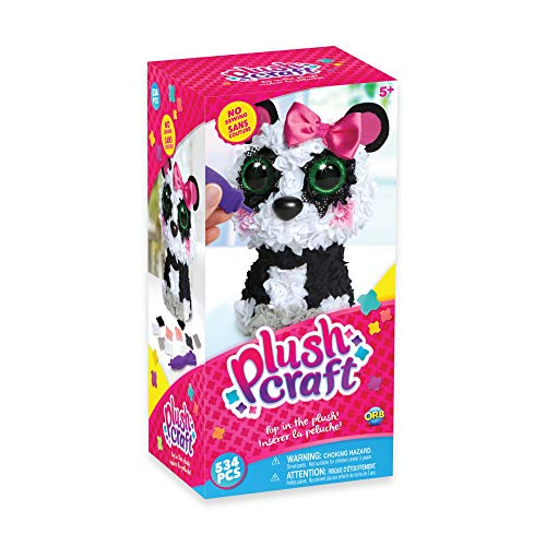 "The Orb Factory Panda 3D Arts and Crafts (510 Piece), Black/White/Grey/Pink, 5"" x 4"" x 10"""