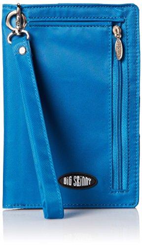 Big Skinny Carteira feminina plus size myPhone com dobra dupla, comporta até 20 cartões, azul oceano