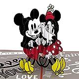Lovepop Disney Mickey & Minnie In Love Pop Up Card - 3D Valentines Day Card Pop Up Valentines Day Card, Couples Card, Pop Up Greeting Card, Disney Birthday Card