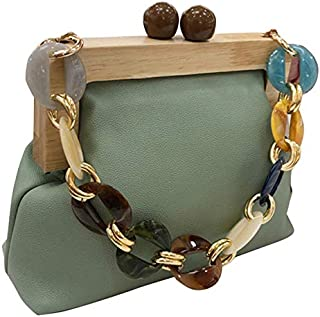 TOOGOO Acrylic Box Bag Bucket Bag for Women Acrylic Clip Evening Bag Ins Chain Luxury Women Handbag Banquet Party Purse Shoulder Bags Black