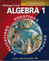McDougal Littell High School Math Tennessee: Teachers Edition Algebra 1 2005 0618370978 Book Cover
