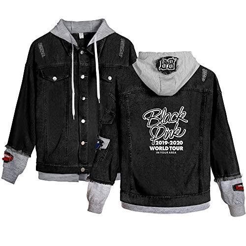 Landove Blackpink Spijkerjas Unisex Denim Jacket Hoodie