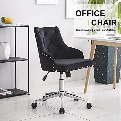 Bürostühle Black Velvet Bürostuhl Chrom Beine Computer-Schreibtisch Stuhl Swivel Aufzug Adjustable