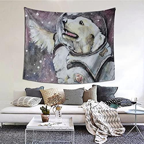Tapiz de manga delgada para colgar en la pared, diseño de astronauta para colgar en la pared, para salón, dormitorio, hogar, fiesta, 152 x 130 cm