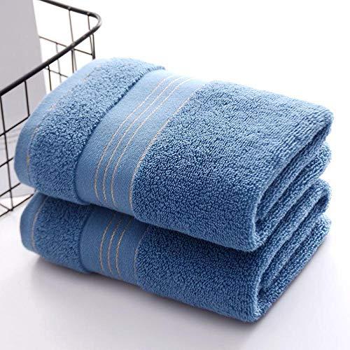 XINDUO Toallas Juego de toallitas Premium,Toalla Absorbente Gruesa de algodón Puro 2pcs-Blue_90 * 40,Toallas Muy absorbentes y Suaves