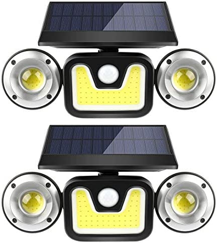 Solar Motion Sensor Lights Outdoor BFULL 3 Heads Lights Solar Powered 83 COB LED Flood Light product image