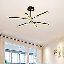 Ganeed Modern Sputnik Chandeliers, LED Pendant Light Ceiling Hanging Chandelier Lighting Fixture Semi Flush Mount Pendant ...