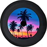 Caps Supply JL Tire Cover Palm Trees Multicolor Sunset Off Road Adventure 4x4 (Fits: JL Accessories Sport with Back-Up Camera) 32 Inch 245/75r17, 255/70r18