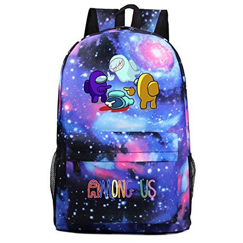 Among us Galaxy Juego Casual Viajes Hombro Mochila Adolescente Estudiante Bolsa Bronceando Popular Boy Girl 15 Colores-Color5