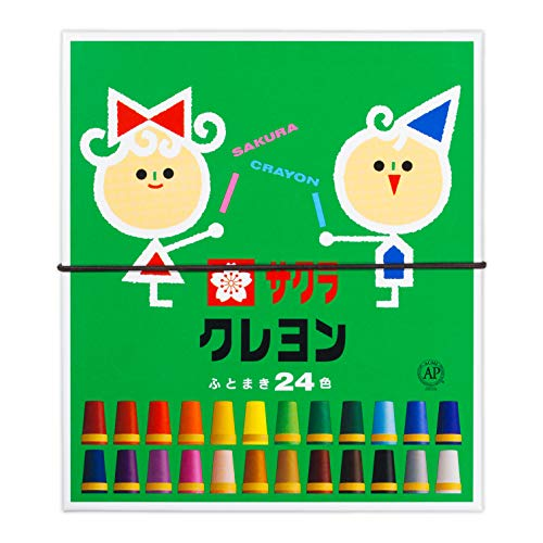 24 color Sakura Color crayons rolling thickly (with Gomuhimo) (japan import)