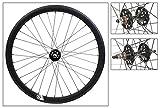 Origin8 700C Fixie - Juego de ruedas (ISO diámetro 622), color negro mate MSW