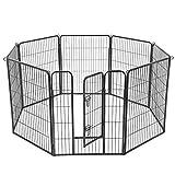 FEANDREA Parque para Perros de 8 Paneles, Jaula para Perros de Gran Capacidad, 77 x 100 cm,...