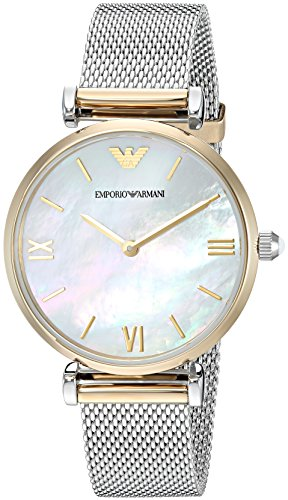 Emporio Armani Women's AR2068 Retro Two Tone Quartz Watch