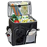 Koolatron D25, 12V Soft Bag Electric Cooler and Warmer with 26 Quarts/24.5 Liters, 34 Cans Capacity - Compact, Portable Iceless Thermoelectric Cooler