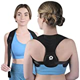 Posture Corrector Upper Back Brace - Back Straightener for Neck Hump, Scoliosis - Stop Slouching Trainer for Perfect Straight Back - Wearable Under Clothes - for Women and Men (S-M)