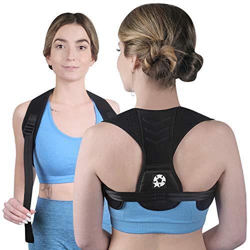 Posture Corrector Upper Back Brace and Back Straightener for Neck Hump, Scoliosis