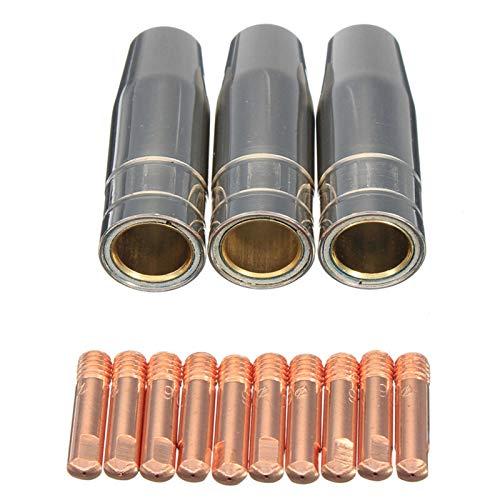 SANKUAI 13 UNIDS CO2 MIG MIG SOLDADING TORCHA AIRCOURADA MB 15AK Porte DE LA Tipo DE Contacto BOQUILLO DE Gas 0.8mm Soldador Shield SHOUFRUD BOQUESO Juego de Punta (tamaño : 0.8mm)