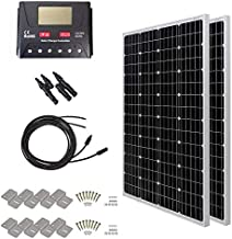 HQST 200 Watt 12 Volt Monocrystalline Solar Panel Kit with 30A PWM LCD Display Charge Controller